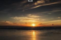 Kitesurf sunset (danielfi) Tags: kitesurf sunset playa beach cádiz tarifa ocaso atardecer silueta silhouette seascape paisaje dusk ngc cielo sky sol sun mar sea