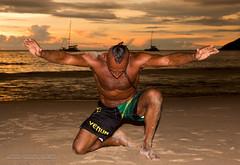 Oakley on Nai Harn beach, Phuket     XOKA3311sL (Phuketian.S) Tags: tan tanned athlete beach yoga pose sand portrait people muscle sea phuker mma fighter thailand phuket phuketian nai harn nature outdoor exotic aborigine powerlifter bodybuilder braid happy happiness muaithai mmafighter boxer yacht sail catamaran skyline cloud sky