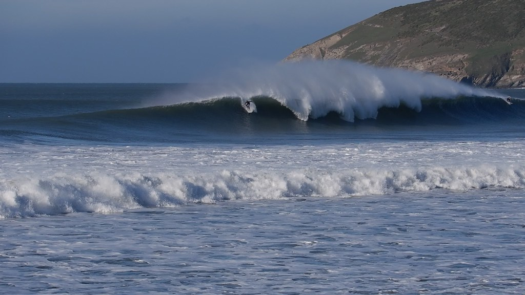 Big Swell Epic Ride Croyde Bay north Devon