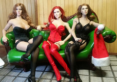 What is it Santa says? (Cremdon) Tags: 16scale actionfigures