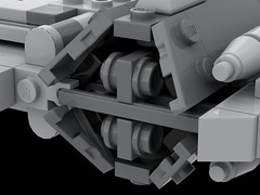 UPDATE to the instructions (Cpt. Ammogeddon) Tags: star wars update space battle fighter heavy rebel empire war grey lego toy play kid teen adult custom build brick moc b wing bwing x land sky vehicle ship