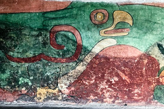 Teotihuacan Bird Painting (GlobalGoebel) Tags: painting mural iphoneography iphone iphonex iphone10 bird condor teotihuacan pyramids mexico mexicocity travel travelphotography