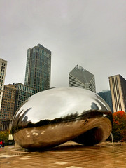 The Bean is still too warm for the first snow of the year to stick on it. (spudart) Tags: 110tons 55nmichiganave 60603 attplaza anishkapoor chicago chicagobean chicagopublicart chicagosculpture cloudscape hdr highdynamicrange highdynamicrangephotography illinois magnificentmile michiganavenue millenniumpark prohdrapp usa art bean big built2004 cameraphone chicagoist cloudgate downtown huge iphone large loop polished popular publicart sculpture shiny stainlesssteel thebean