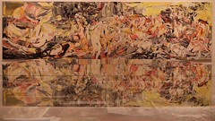 Cecily Brown (brianlarsen4) Tags: british women large painting abstract canon reflection yellow louisiana colors cecily glass mirror modern art brown