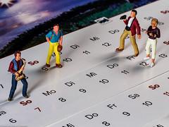 Flickr Friday  #Week - Planned activities (J.Weyerhäuser) Tags: flickrfriday nochfiguren wandern h0 week kalender fotografieren musik woche planning