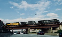 NS over I-94 (dangaken) Tags: i94 train rail ns norfolksouthern danryanexpressway il up unionpacific danryan ns8011