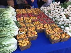 Cherry tomatoes, radishes at Garden Of ..... (TomChatt) Tags: food farmersmarket