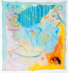 DSC_1008, 180cm x 196cm, Oils & Acrylics on Unstretched Canvas, Summer  2018 (DCleggArt) Tags: painting art fine chaos colour process catharsis summer transition pastel fineart paint