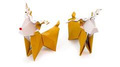 Origami Reindeer Tutorial - Christmas DIY - Paper Kawaii (paperkawaii) Tags: origami instructions paperkawaii papercraft diy how video youtube tutorial