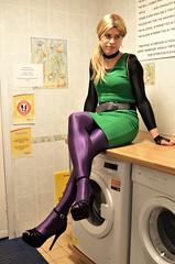 Doing the washing (Miss Nina Jay) Tags: tights trannie