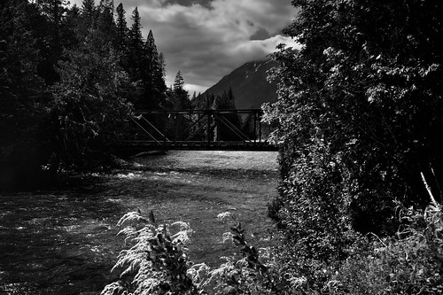 Bridge Over the Stehekin River (Black & White, North Cascades National Park Service Complex)