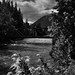 Bridge Over the Stehekin River (Black & White, North Cascades National Park Service Complex)