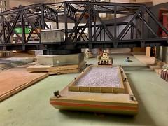 Oak Park Society model engineers. (Chicago Rail Head) Tags: bridge187scalemodel dolelibrarylowerlevel oakparkil oakriverhorailroadclub illinoisriver riverbarge hogauge railroadswingingbridge 187scale
