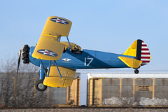 PT-13D Kaydet (DPhelps) Tags: t67 hicks airfield roanoake texas fort worth general aviation airplane plane aircraft runway beacon cafe pt17 stearman aac army air corps caf commemorative force n4813v