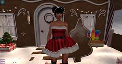[Sexy Princess] Xmas Dress Group gift & .EscalateD. Poppy HUNT EXCLUSIVE FOR THE GRUMPY SANTA HUNT (♥Miss Lady Fifooo♥) Tags: xmas sexy princess dress hair escalated maitreya bento catya catwa brunette second life sl secondlife virtual