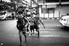 les écoliers (Vongravier) Tags: écoliers noiretblanc bangkok street rue enfants children scool