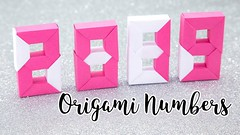 Origami Numbers Tutorial - 2019 New Year - Paper Kawaii (paperkawaii) Tags: origami instructions paperkawaii papercraft diy how video youtube tutorial