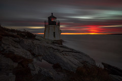 Castle Hill Lighthouse (gauravk.sharma) Tags: rhodeisland bigstopper castlehill lighthouse longexposure newport sunset