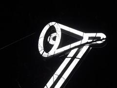 lamp (derpunk) Tags: outside lamp light installation festival amsterdam netherlands black white glow dark night
