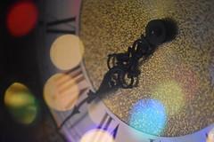 Christmas 2018 (Mikon Walters) Tags: united kingdom uk britain england nikon d5600 sigma 105mm macro photography f28 close up bokeh clock grandfather old styled ticking hands christmas face lights 2018 lighting reflecting reflection lens holidays happy