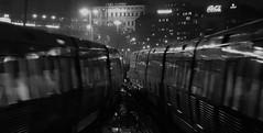 Vicky (blazedelacroix) Tags: t bana noiretblanc blackandwhite nightlights night stockholm blazedelacroix station street