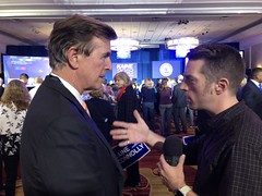 "Interview with Michael Lee Pope on election night • <a style=""font-size:0.8em;"" href=""http://www.flickr.com/photos/117301827@N08/45867283261/"" target=""_blank"">View on Flickr</a>"
