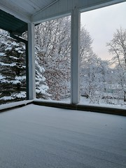 (gabre97) Tags: white winter snow clear window tree sky pink house abandoned roof day exploring beautiful place nature