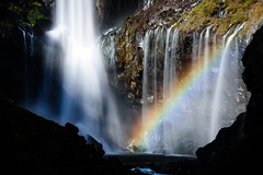 Fall and rainbow (kat-taka) Tags: fall rainbow water mountain nature shadow stream