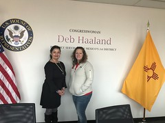 Meeting with Rep. Haaland's staff