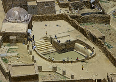 Water Cistern In Hababa, Yemen (Eric Lafforgue) Tags: arabia arabiafelix arabianpeninsula architectural architecture cistern colourpicture day drinkingwater drought highangleview historical history horizontal man placeofinterest pool stairs step water yemen img1637 hababa