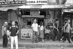 Cora Store (Beegee49) Tags: store street people filipina busy blackandwhite monochrome bw happy planet luminar silay city philippines asia asiafavorites happyplanet