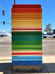 Untitled (ArtFan70) Tags: ericksanchez sanchez centralsanpedro sanpedro losangeles la california ca unitedstates usa america art paintedutilitybox utilitybox box
