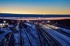 Proctor, MN (tjman274) Tags: explore cold yard minnesota proctor sd40 morning night canadiannational cn dmir winter