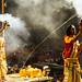 Men Performing Aarti, Varanasi India