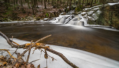 Winter Waterfall (tquist24) Tags: connecticut endersfalls endersstateforest nikon nikond5300 outdoor cold geotagged ice longexposure nature river snow tree trees water waterfall winter granby unitedstates