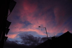 Rage Against The Dying Of The Light. (HiJinKs Media...) Tags: clouds sky sunset silhouettes silhouette bristol dusk light dark atmospheric colours colors colori colores city world weather seasons