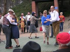 Dancing on the Platform DSCN2706mods (Andrew Wright2009) Tags: north norfolk railway 1940s weekend england uk heritage history trains steam dancing platform station
