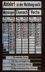 Fahrplan Bad Salzungen (~Nordlicht~) Tags: fahrplan badsalzungen wartburgkreis