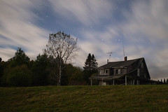 Spooky (Northern Wolf Photography) Tags: 17mm abandoned antenna astrophotography em5 house night pittsburg stars trees newhampshire unitedstatesofamerica us