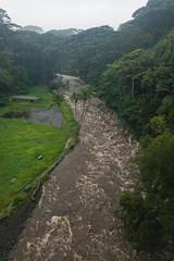 Spring flood in Hilo during hurricane Lane 2018 Hawaii