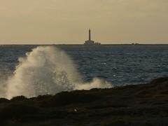 Gallipoli❤ (_Veronika95_) Tags: gallipoli salento puglia italy mare sea waves onde mareggiata faro isola sunset