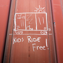KIDS RIDE FREE (TRUE 2 DEATH) Tags: kidsridefree railhed boxcarart moniker monikers markals meanstreaks oilbars freighttraingraffiti hoboart paintsticks railroadart streak benching train freight graffiti graf railroad railfan railcar art railways tag freighttrain hobo hobomoniker