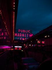 Neon Public Market (dk_studio_) Tags: seattle neon city colorful night