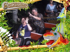 """Tracey and Scott on Coastersaurus • <a style=""""font-size:0.8em;"""" href=""""http://www.flickr.com/photos/28558260@N04/46311780541/"""" target=""""_blank"""">View on Flickr</a>"""