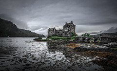 Step back in time (10000 wishes) Tags: castle scotland island water gloomy storm historic scenic reflections rocks landmark landscape