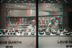 New York, New York (DDDavid Hazan) Tags: newyork newyorkcity ny nyc shop window jewelry watches shopkeeper closed night city street urban anaglyph 3d 3danaglyph 3dstereophotography redcyan redcyan3d stereophotography stereo3d streetphotography
