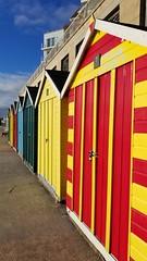 Des Res... (Harleynik Rides Again.) Tags: harleynikridesagain beachhuts dorset colours newyearsday phoneimage