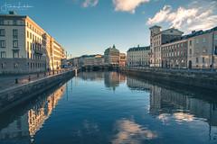 Gothenburg in Daylight (Fredrik Lindedal) Tags: gothenburg göteborg reflection reflections water canal bridge buildings clouds sweden sverige city cityscape cityview nikon d750 lindedal