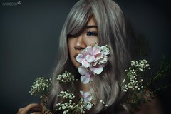 Hanahaki Disease (haine.otomiya) Tags: hanahaki disease selfie self portrait girl flowers fine art mood delicate melancholy