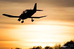 Sunset landing - Alzate Brianza (Dysko88) Tags: aircraft airplane spotting robin sunset landing alzate brianza general aviation